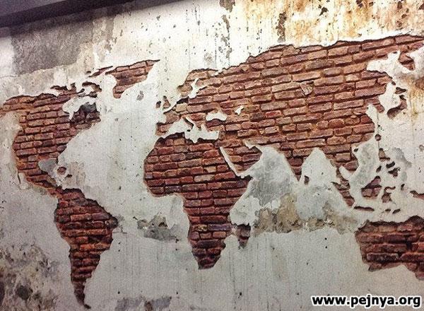 Необычная карта мира